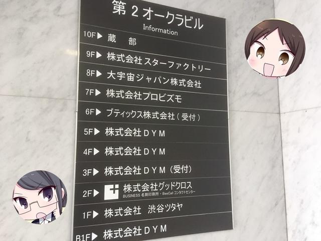 DYM就職の面談場所は五反田の第二オークラビル